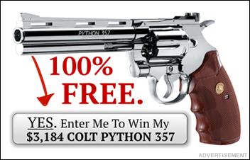 Get this $3,184 Colt Python FREE
