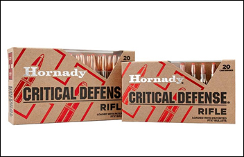 First Look: Hornady Critical Defense Rifle Ammo