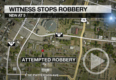 Good samaritan pulls gun on would-be robber