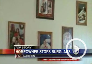 Mom pulls out guns to chase off 5 suspected burglars