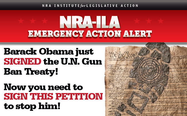 Barack Obama and the United Nations are joining forces to trample your freedom.