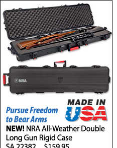 NEW! NRA All-Weather Double Long Gun Rigid Case