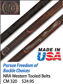 NRA Western Tooled Belts