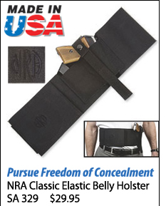 NRA Classic Elastic Belly Holster