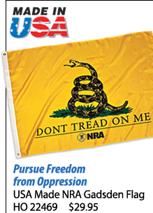 USA Made NRA Gadsden Flag