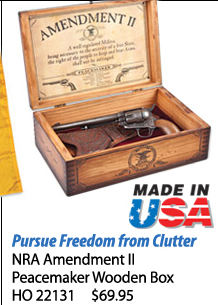 NRA Amendment 2 Peacemaker Wooden Box