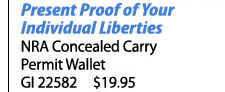 NRA Cocealed Carry Permit Wallet