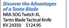 NRA SOG Twitch XL Tanto Blade Tactical Knife