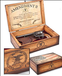 NRA Amendment II Peacemaker Wooden Box