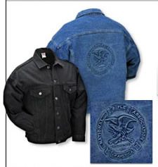 Embossed NRA Denim Jacket