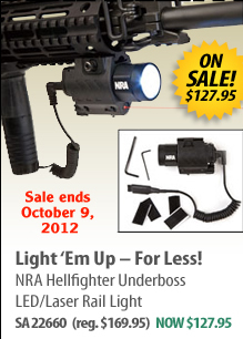 NRA Hellfighter Underboss LED/Laser Rail Light