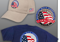 Show Your ALL IN status by wearing the official T-shirt, pin and cap - available only at the NRAstore.com