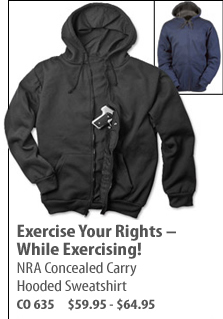 NRA Concealed Carry Hooded Sweatshirt