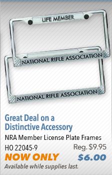 NRA Member License Plate Frames