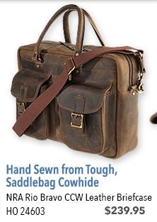 NRA Rio Bravo CCW Leather Briefcase