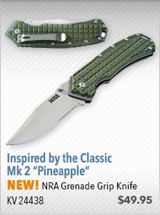 NEW! NRA Grenade Grip Knife