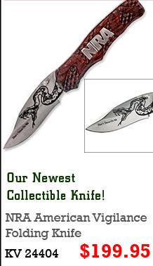 NRA American Vigilance Folding Knife