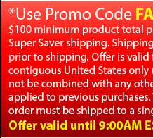Get a FREE UPGRADE to 3 Day Shipping with a purchase of $100