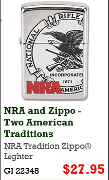NRA Tradition Zippo Lighter