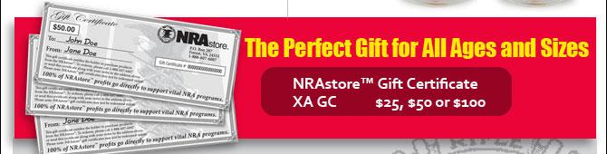NRA Gife Certificate