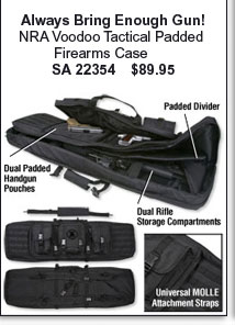 NRA Voodoo Tactical Padded Firearms Case