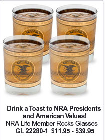 NRA Life Member Rocks Glasses