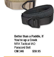 NRA Tactical IAO Paracord Belt