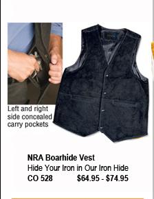 NRA Boar Hide Vest