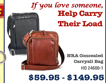 NRA Concealed Carryall Bag