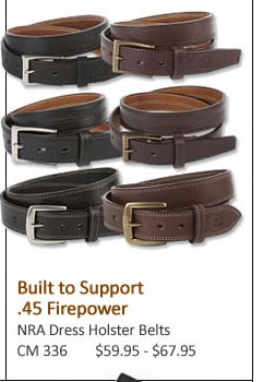 NRA Dress Holster Belts