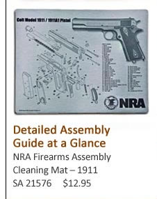 NRA Firearms Assembly Cleaning Mat