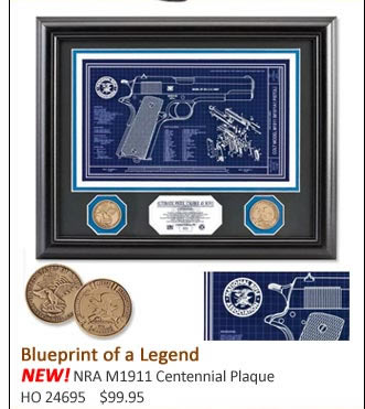 NEW! NRA M1911 Centennial Plaque