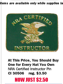 NRA Certified Instructor Pin