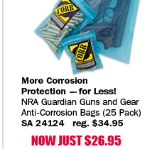 NRA Guardian Guns and Gear Anti-Corrosion Bags 25 Pack
