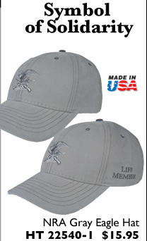 NRA Gray Eagle Hat