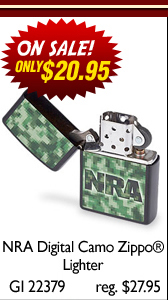 NRA Digital Camo Zippo® and Leather Pouch Set