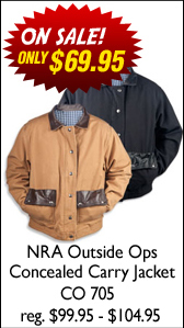 NRA Outside Ops Concealed Carry Jacket