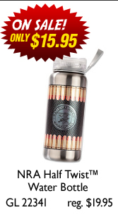 NRA Half Twist™ Water Bottle