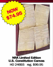 NRA Limited Edition U.S. Constitution Canvas