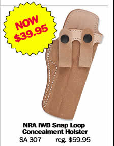 NRA IWB Snap Loop Concealment Holster