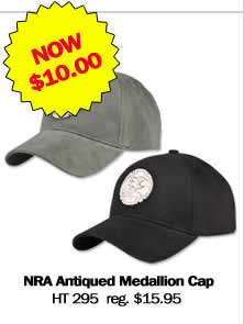 NRA Antiqued Medallion Cap