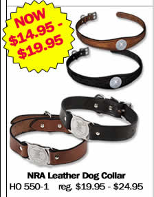 NRA Leather Dog Collar