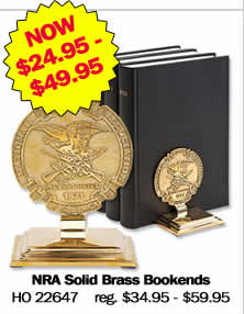NRA Solid Brass Bookends