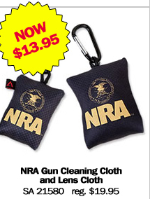 NRA Gun Cleaning Cloth and Lens Cloth