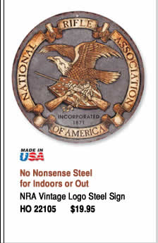 NRA Vintage Logo Steel Sign