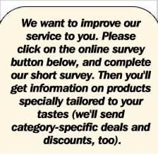 Take our survey and help us serve you better