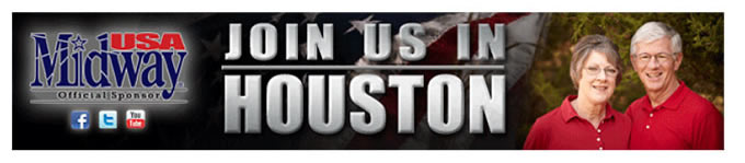 Join us in Houston - Midway USA, official sponsor